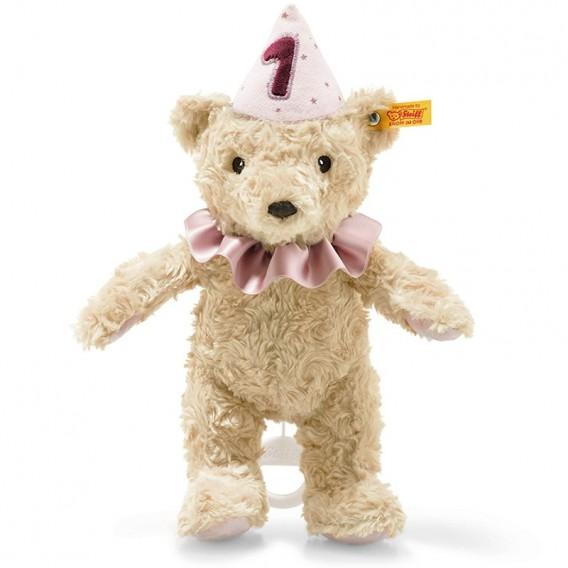 Ours Teddy 1er Anniversaire Rose - Steiff