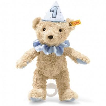 Ours Teddy 1er Anniversaire Bleu