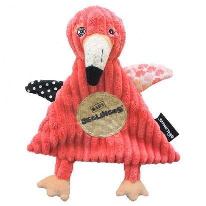 Doudou Baby Flamingos Le Flamant Rose - Les Déglingos